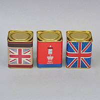 """Коробка для хранения сыпучих продуктов """"Britain"""" CF389, размер 9x7.5 см, металл, 3 вида, емкость для хранения"""