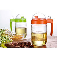 Диспенсер для масла/соуса Stenson MS-2871, стекло, объем 420 мл, разные цвета, емкость для масла, бутылка под