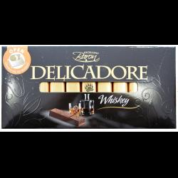 Шоколад молочный со вкусом виски Delicadore Whiskey, 200г