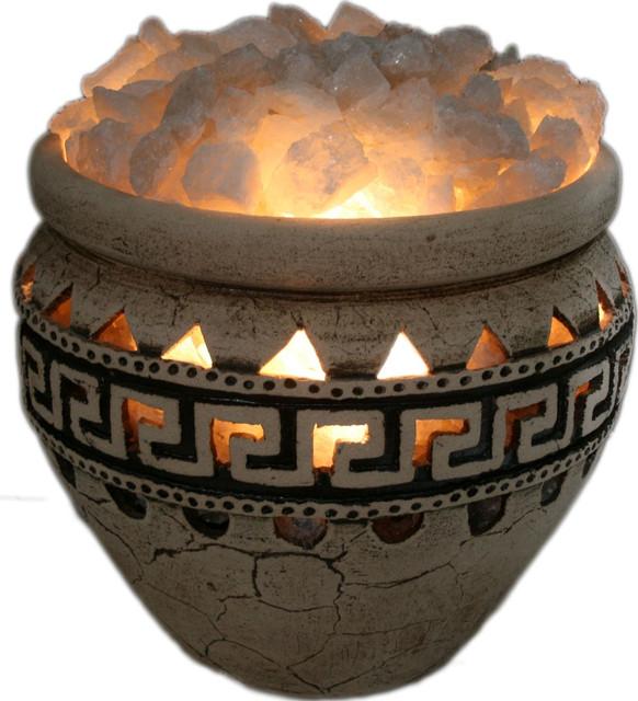 Соляные лампы в керамическом основании