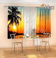 Фото шторы Пальма на Закате