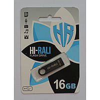 Флешка компьютерная Hi-Rali на 16GB, черная, флешка на 16Гб, флешка компьютерная