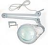 Лампа-лупа 5D на струбцыне д. 178см Bourya