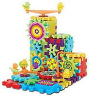 Детский конструктор - шестеренки Funny Bricks от батареек, 81 деталь, пластик, конструктор, конструкторы