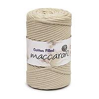 Трикотажный хлопковый шнур Cotton Filled 5 мм, цвет Бежевый