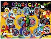 """Набор для лепки """"Crazy Clay"""" 10 цветов"""