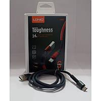 Кабель для зарядки і синхронізації телефону Usb Type-c LS63 чорний, кабель USB/Type-C, телефонний кабель