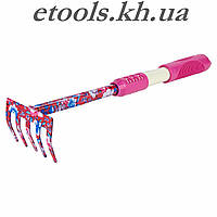 Грабли 5-ти зубые (pink) (TPR) FLORA 5043154