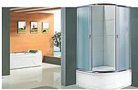 Душевая кабина полукруглая BADICO SAN 1001 Fabric 100х100х195 с поддоном и сифоном