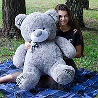 Мишка плюшевый 1.2 м, большой мягкий медведь серый, подарок на день рождения