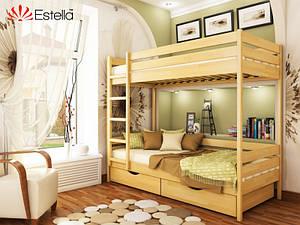 Двухъярусная кровать Estella Дует деревянная