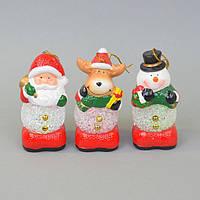 Новогодний декор для интерьера NG502, 12*6 см, холодный фарфор, с диодной подсветкой, Новогодние сувениры,