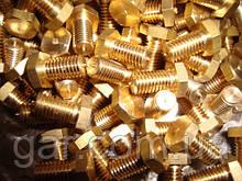 Болт М10 латунный DIN 933 (ГОСТ 7805-70, ГОСТ 7798-70)