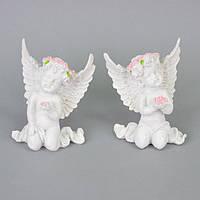 "Статуэтка декоративная для интерьера ""Ангел"" SY077, керамика, 13х11 см, 2 вида, фигурка декоративная,"