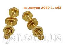 Болт М12 латунный DIN 933 (ГОСТ 7805-70, ГОСТ 7798-70)