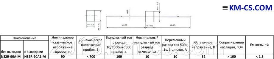 Розрядник NS2R-90-A1M (Nenshi)