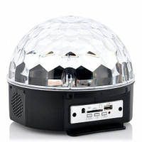 Светодиодный музыкальный диско-шар Led Music Ball SD-5150 Bluetooth, USB, 30 Вт, шесть цветов, диско шар,