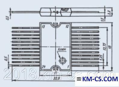 Микросхема КА1016ХЛ1 (Квазар-ИС)