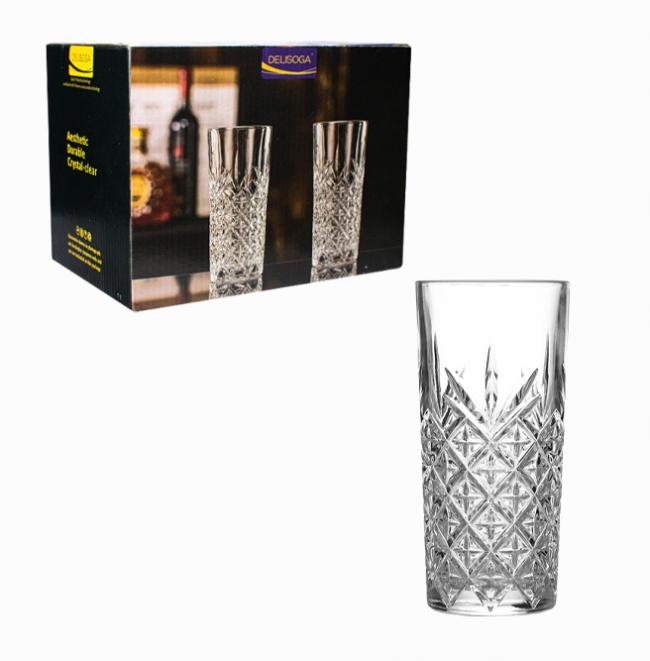 Подарочный набор высоких стаканов 6 шт Оксфорд Helios 330 мл