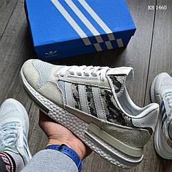 Мужские кроссовки Adidas Originals ZX500 RM белые / адидас ориджинал (Топ реплика ААА+)