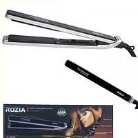 Утюжок для выпрямления и укладки волос Rozia HR 707 керамика, 35W, плоские щипцы, черный, утюжок Rozia