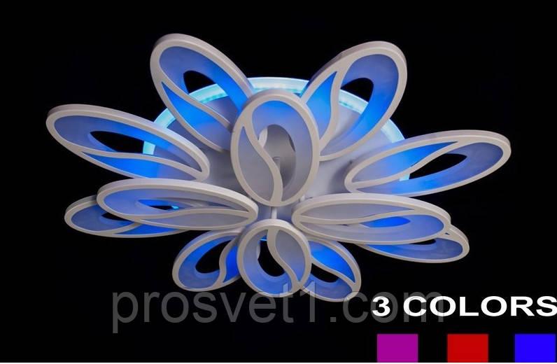 Светодиодная припотолочная люстра 5565/8+4 color LED  ЛС