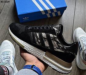 Мужские кроссовки Adidas ZX 500 RM Commonwealth черные / кросівки адідас (Топ реплика ААА+)