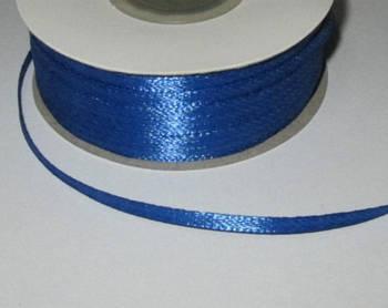 Лента атлас 0,3 см, синяя