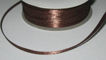 Лента атлас 0,3 см, шоколадная