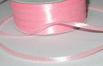 Лента атлас 0,3 см, розовая