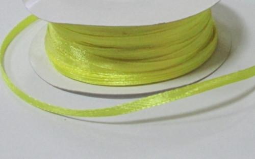 Лента атлас 0,3 см, желтая