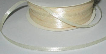 Лента атлас 0,3 см, кремовая