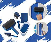 Комплект малярских валиков для покраски стен и потолка Point Roller объем 1л, синий, поролон/пластик/сталь,