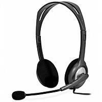 Наушники с микрофоном проводные Logitech H110 (981-000271) 2*3.5(3) каб.2.4м т. серый новые