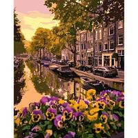 """Яркая картина раскраска по номерам """"Амстердам"""" 40х50 см KHO3553 живопись рисование в цифрах на холсте"""