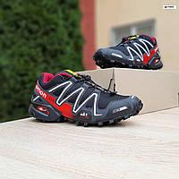 Мужские кроссовки Speedcross 3 Чёрные, Реплика