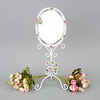 """Зеркало настольное для макияжа """"Flowers"""" CH959, материал металл, 44х16 см, зеркало для оформления интерьера,"""