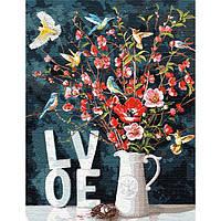 """Яркая картина раскраска по номерам """"С любовью (big)"""" 50х65 см KHO13119 живопись рисование в цифрах на холсте"""