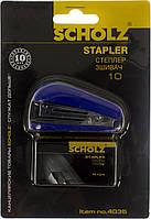 """Степлер """"Scholz"""" №10 8арк №4035 синій,міні +1000 скоб(24)"""
