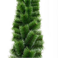 Гирлянда сосновая Mimosa двухцветная, заснеженная, 2,5м, (светло/темно-зеленая), ПВХ, сосновые гирлянды, сосны