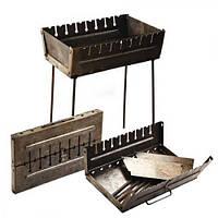 Мангал - валіза КК-М8 на 8 шампурів, нержавіюча сталь, мангал розкладний, мангал складаний, мангал з