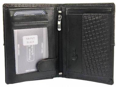 Мужское кожаное портмоне ALWAYS WILD N4PVT черное, фото 2