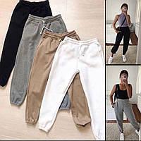 Жіночі штани однотонні 42-44 44-46 рр, чорний, білий, бордо, бежевий, зелений і сірий