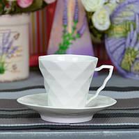 """Чашка фарфоровая для напитков """"Rhombus M"""" FR220, размер 7х7.5 см, в наборе 12 предметов, 6 видов, в коробке,"""