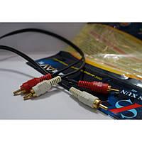 Аудио-видео кабель для подключения аппаратуры Alkanna 2RCA/2RCA, 3м, аудио кабель, видео кабель, кабель для TV
