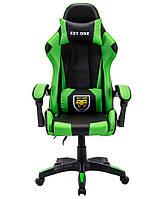 Ігрове крісло Игровое Спортивне крісло СТУЛ EXT ONE ЗЕЛЕНЕ Стул офисный компьютерный Геймерське крісло Офісне