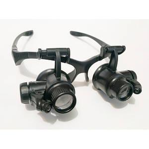 Бінокулярні окуляри-лупи з Led підсвічуванням 9892G2 20X
