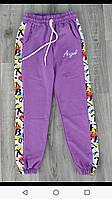 Спортивные штаны для девочки на 9-12 лет синего, сиреневого, розового, мятного Ангел оптом, фото 1