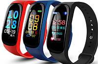 Наручный фитнес браслет Smart Band M5 PRO разные цвета, 90 мАч, Android/IOS, шагомер, Bluetooth, силикон, часы