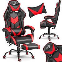 Геймерське крісло спортивне SOFOTEL Ігрове крісло ЧОРНО-ЧЕРВОНЕ Стул компьютерный Кресло игровое геймерское